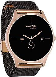 X-WATCH 54030  JOLI XW PRO - Smartwatch Damen iOS / iPhone - Fitnessuhr - Android mit WhatsApp Info Samtschwarz