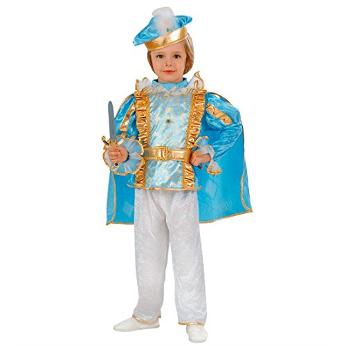 Charming Prinz Kostüm König Kinderkostüm 104 cm Blaues Prinzenkostüm Edler Märchenprinz Jungenkostüm Prince Kind Faschingskostüm Edelmann Märchenkostüm (Jungen Charming Prince Kostüm)
