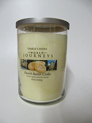 Yankee Candle World Journeys Danish Butter Cookie Home Fragrance Scented Fragranced Filled Jar Tumbler 22 oz from Yankee Candle company