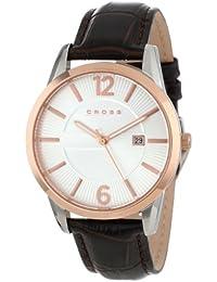 Cross CR8002-04 - Reloj analógico para hombre, correa de cuero color marrón
