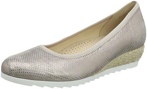 Damen Jute (Gabor Shoes Damen Comfort Sport Geschlossene Ballerinas, Mehrfarbig (Rame (Jute)), 43 EU)