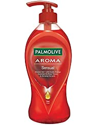 Palmolive Body Wash Aroma Sensual, 750ml Pump, Shower Gel with Exotic Orange Essential Oil, Rose Flower & Ginseng Extracts