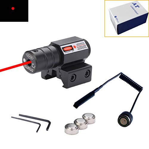 OWNTHRE Tactical Green Red Dot Laser Sight Scope Dovetail Weaver Picatinny Rail Mount Riflescope con Interruptor de presión Remoto Airsoft Air Guns Accesorios