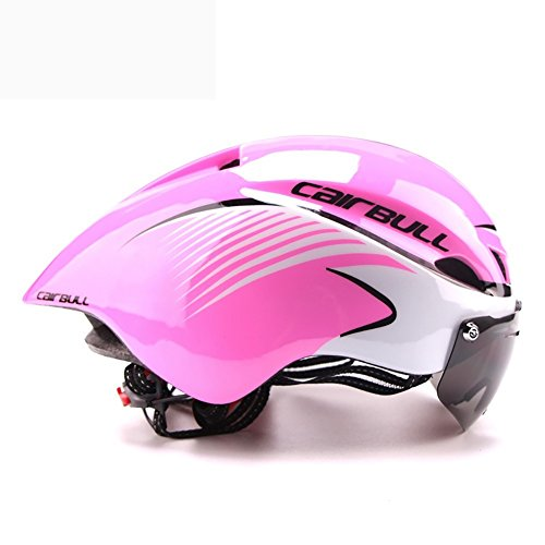 ZZY Fahrradhelme,Männer/Frauen Fahrradhelm Goggles Bike Racing Helm mit Brille Einstellbare Rennrad Helm, 04