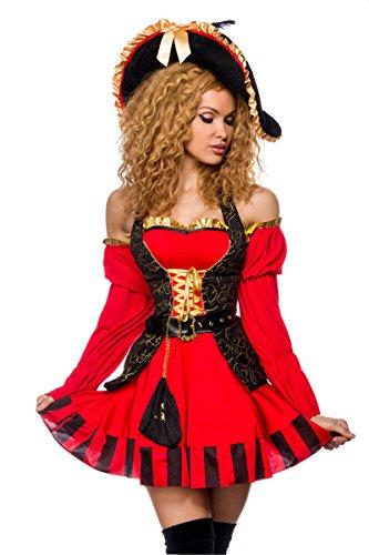 Kostüm - rot/schwarz, Größe Atixo:S (Der Rock 2017 Halloween Kostüm)