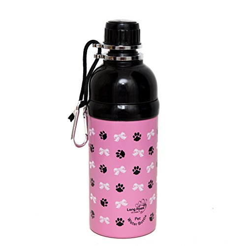Long Paws Prinzessin Pet Wasser Flasche,, Medium, 500 ml, Pink