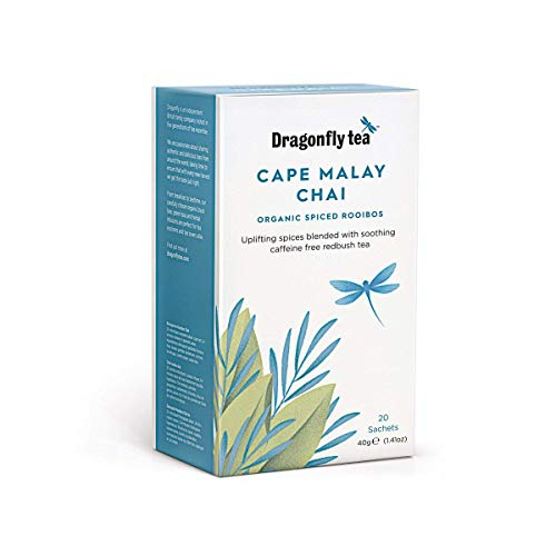 Dragonfly Organic Cape Malay Chai 20 Tea Sachets (Pack of 4, Total 80 Sachets)