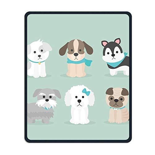 Yanteng Precisione cucita e resistente Unisex Cute Dog Creazione di tappetini per il mouse pad impermeabile con base in gomma antiscivolo per studio di gioco da ufficio mouse pad