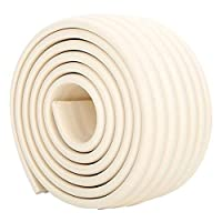 6.5 FT Extra Wide and Thick Safe Edge and Corner Cushion Guard. Baby and Child Proof Table and Furniture Safety Protection - Beige