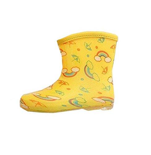 Jaune Durable bébé Rain Boot Bleu Mignon Enfants Chaussures de pluie