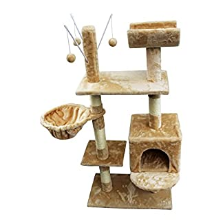 Cat Tree Scratching Post Activity Centre Bed Toys Scratcher New with Cat Nip HOME HUT® Cat Tree Scratching Post Activity Centre Bed Toys Scratcher New with Cat Nip HOME HUT® 41qGn7J qYL