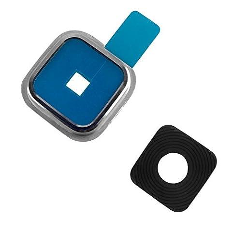 yayago Camera Frame Kamera Linse Abdeckung für Samsung Galaxy S5 Rahmen Lens Schutz Silber