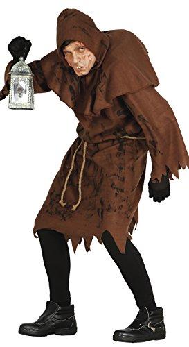Halloween Herren Kostüm Pfarrer Mönch Obdachloser Herrenkostüm Kirche Gr. M/L, Größe:L (Glöckner-kostüm)
