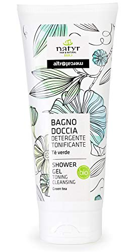 BIO Shower Gel Unisex with green tea ✔ Detox-Effect, Cleans, Detoxifies, Vitalizes the skin ✔ Natyr - Fair Trade Natural Cosmetics from Italy ✔ 200ml