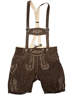 Herren Lederhose - altbraun ZV antik 3450 Lederhosen mit Träger Gr. 44-58 Trachten Echtes Leder Trachtenlederhose...