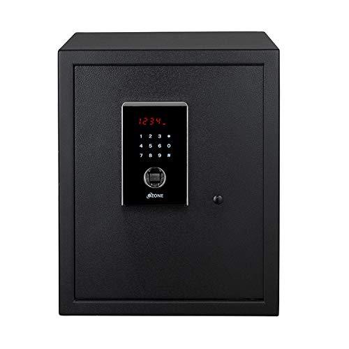 Ozone Mild Steel Biometric Motorised Safe (Black, 10-Pieces)