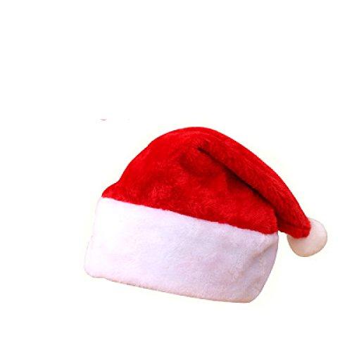 GXYLLDS Plüsch Weihnachtsmütze Santa Hüte Kostüm Für (Kostüme Santa Plüsch Anzug Kind)