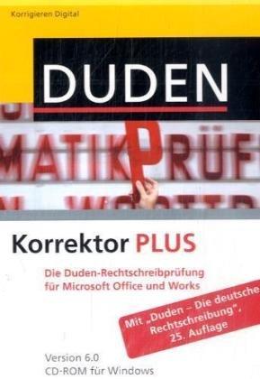Duden Korrektor PLUS 6.0. Windows Vista; XP; 2000: Die Rechtschreibprüfung für Microsoft Office und Works