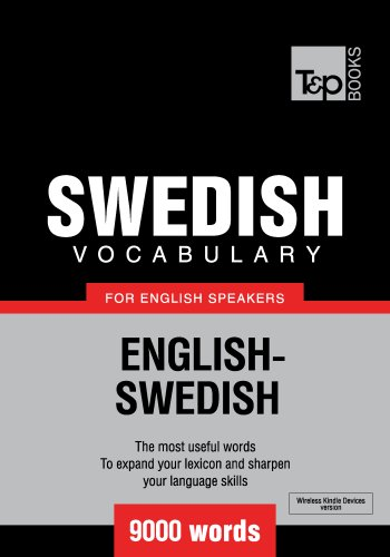 Swedish Vocabulary for English Speakers - 9000 words (English Edition)