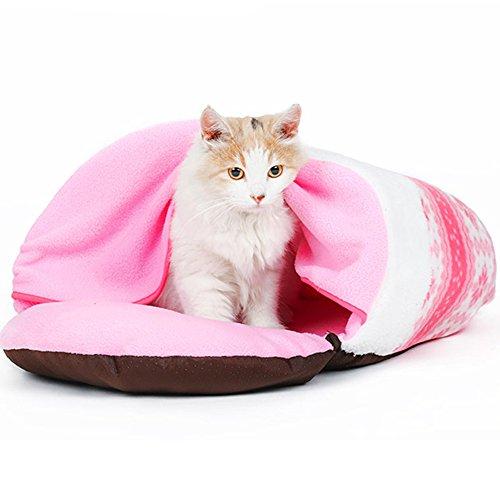 Bwiv Pet Letto Antiscivolo Sacco a Pelo Dog House Cat