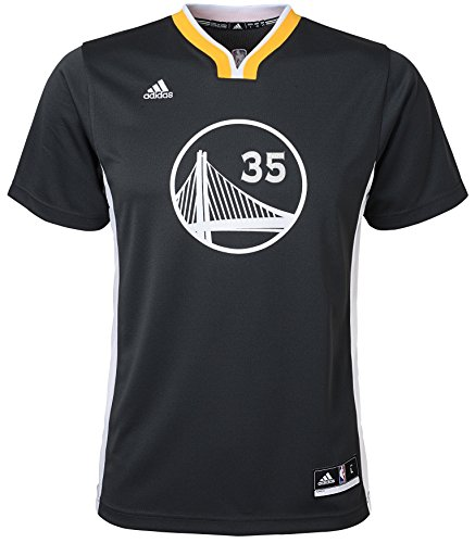 adidas Jungen Kevin Durant Golden State Warriors # 35 Youth Alternate Replica Short Sleeve Jersey, schwarz -