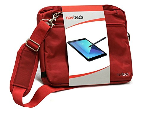 Navitech rotes premium Case / Cover Trage Tasche für das Dragon Touch V10 10 inch GPS Android Tablet