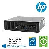 Utraslim PC Hp Elitedesk 800 G1 Usdt Core I5-4570S Ram 8Gb Hdd 320Gb Windows 10 Professional con Licenza Simpaticotech Mar Microsoft Authorized Refurbisher (Ricondizionato Certificato)