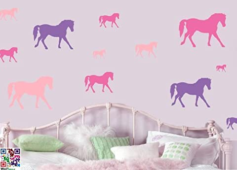 HORSES MULTIPACK - - Repositionable Wall Art Vinyl Printed Stickers - EASY PEEL & STICK by Stickers on Your Wall
