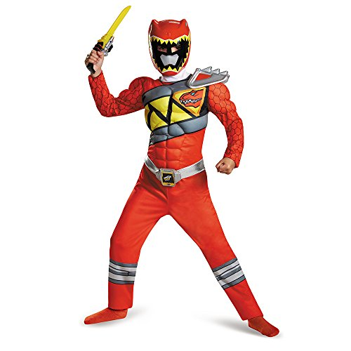 Disguise Red Ranger Dino Charge Classic Muscle Costume, Large (10-12) by Disguise (Dino Charge Red Ranger Kostüm)