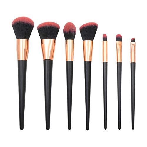Pinceau de maquillage,Hunpta 7 PCs noir rose diamant poignée brosse à oeil pinceau de maquillage Set (A)