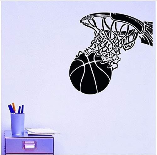 Basketball Schießen In Basketballkorb Wandaufkleber Sport Wohnkultur Vinyl Abnehmbare Diy Wandtattoos Für Jungen Zimmer 59X59 Cm