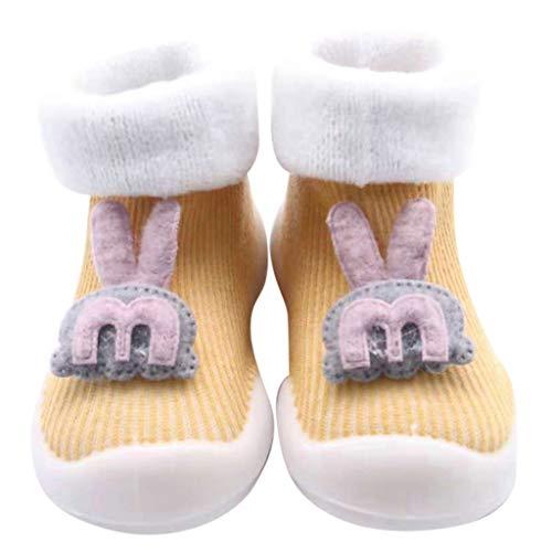 Chaussures Premiers Pas BéBé Fille Garçon Chaussettes de Noël Doux Souple Princesse, Binggong Chaussure Fille Père Noël Doux Sole Prewalker Chaussures de Maison antidérapantes pour BéBé 0-55mois