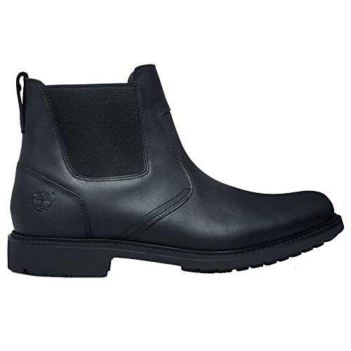 Timberland Mens Earthkeepers Stormbuck Chelsea Black Leather Boots 41.5 EU
