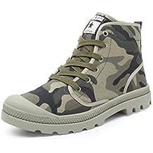 Hombres Zapatos Ocasionales Tobillo Lona Cordones Zapatos Zapatillas Superior Alta Al Aire Libre