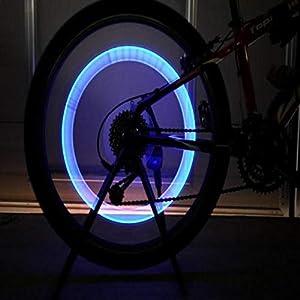 5PC Coole Fahrradreifen Rad LED Leuchtet Gasdüse Lampe Kommt Mit Batterie,Fahrradlampe, Nourich Scheinwerfer Kopf Licht Lamp Scheinwerferlampe Fahrradleuchte Fahrradbeleuchtung, Fahrradlicht,