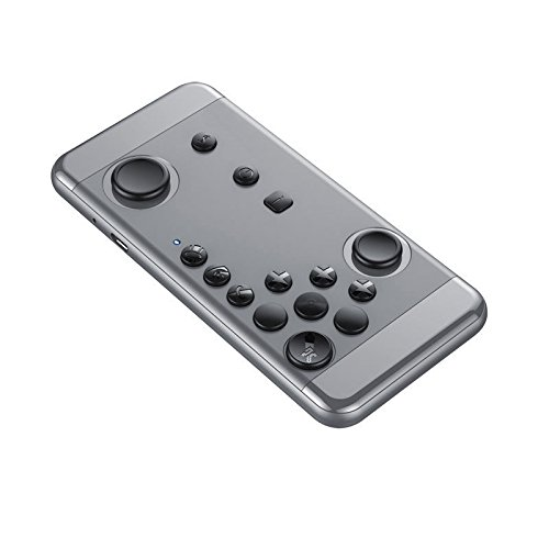 ZJstyle® Portable Game Controller Bluetooth Spiel Joystick Wireless Gaming Controller Handy Spiel Tablet Gamepad Bluetooth Gamepad Unterstützung iOS Android OS Windows PC VR (Grau) - 138 Handy