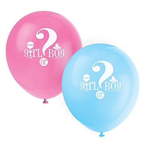 s Latexballons für Babyparty, 30,5cm, 8er-Pack – zur Bekanntgabe des Geschlechts (Rosa Und Schwarze Ballons)