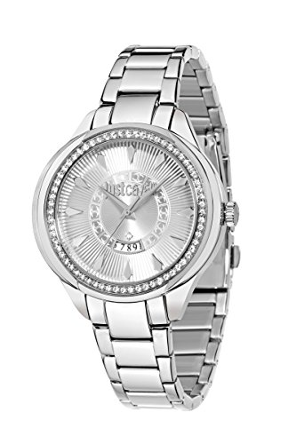 Just Cavalli Women's Quartz Watch with Silver JC01 Analogue Quartz Stainless Steel R7253571504
