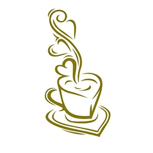 Heisse Kaffeetasse Muster Wandmalerei Wandschablone Schablone muster Zu Hause Kunstdekor