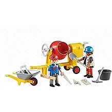 Playmobil ref. 6339. Obreros de la construccion con hormigonera y accesorios