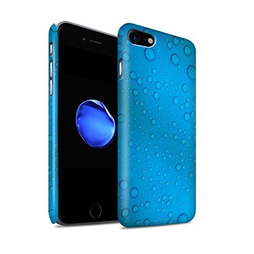 STUFF4 Matte Snap-On Hülle / Case für Apple iPhone 8 / Grün/Orange Muster / Wassertropfen Kollektion Blau