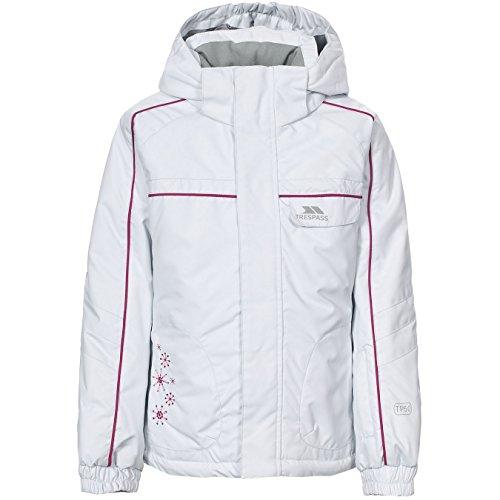 Trespass Mädchen Ski Jacke Jaya (3/4 Jahre (98/104)) (Weiß) (Ski-jacke Mädchen 18)