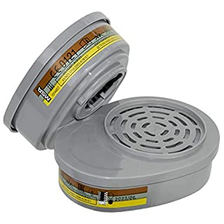 MSA Advantage Respirator Protection | Combination Filters A2B2E1K1-P3 | ABEK-P | Reusable | Bayonet connection | Pair | EN 14387