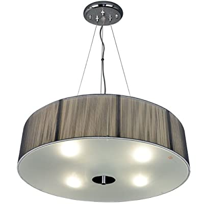 s`luce (Twine) SILVER Hängeleuchte 4-flammig Ø50/H18, silberfarben CORS/1P500/SL Ø50/H18 SL von Licht-Design Skapetze GmbH & Co KG - Lampenhans.de