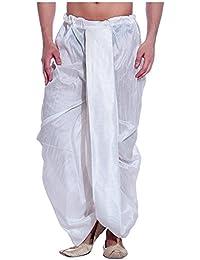 Royal Kurta Men's Silk Blend Solid Dhoti