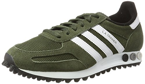 adidas L.A. Trainer Og, Sneaker a Collo Basso Uomo, Verde (Night Cargo F15/Ftwr White/Core Black), 40 EU