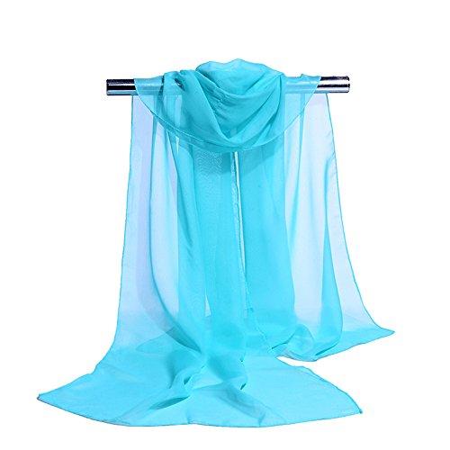 S.Self-My Im Frühjahr Und Im Herbst) Monochrom Schnee Gewebt Langer Abschnitt Der Koreanischen Version Von Kunst Und Kultur Ändern Blue Lake Schals