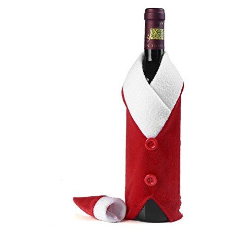 YARBAR 2 pezzi Babbo Natale decorativo bottiglia di vino rosso Wrap copertura Topper Pouch Bag Tabella cena decorazione del partito della casa