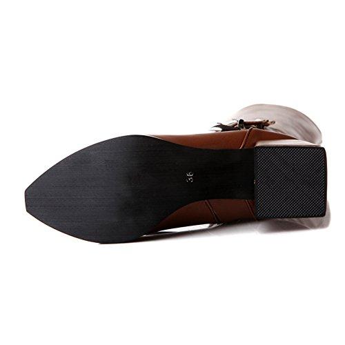 1to9mns01973 - Sandales Compensées Marron Pour Femme