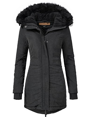 Eight2Nine Damen Mantel Wintermantel Winterparka 44372AEN Schwarz Gr. S